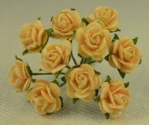 1 cm LIGHT AUTUMN GOLD Mulberry Paper Roses